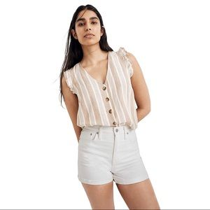 Madewell High-Rise Denim Shorts in Tile White 28